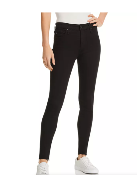 ADIANO GOLDSCHMIED AG FARRAH SKINNY ANKLE IN BLACK WITH RAW HEM