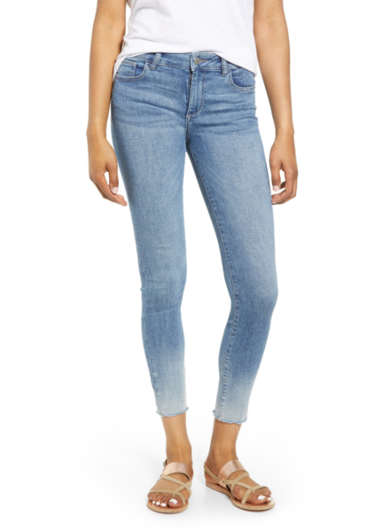 DL1961 FLORENCE ANKLE MID RISE SKINNY IN MALTA OMBRE