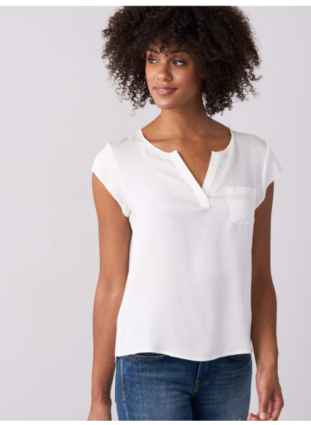 REPEAT SILK POCKET TEE