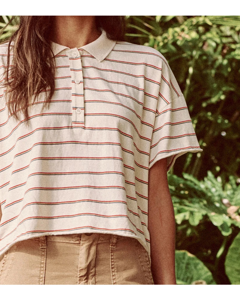 THE GREAT CROPPED POLO TEE