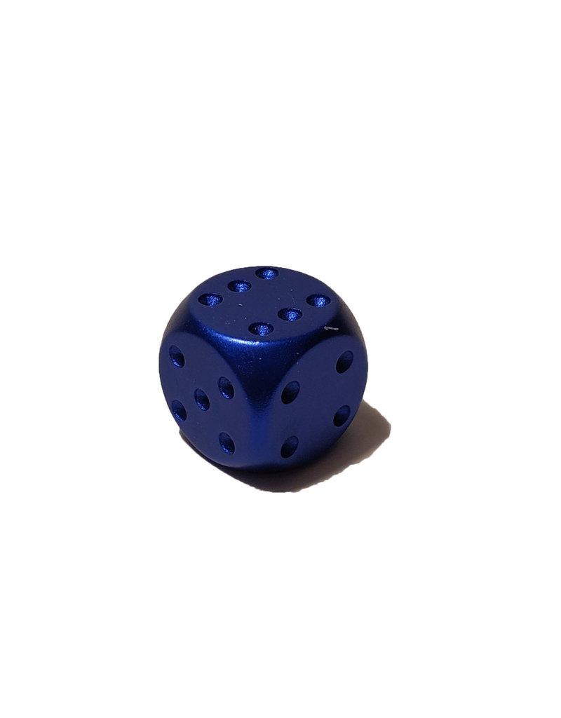 Pipped Aluminum D6 - Blue