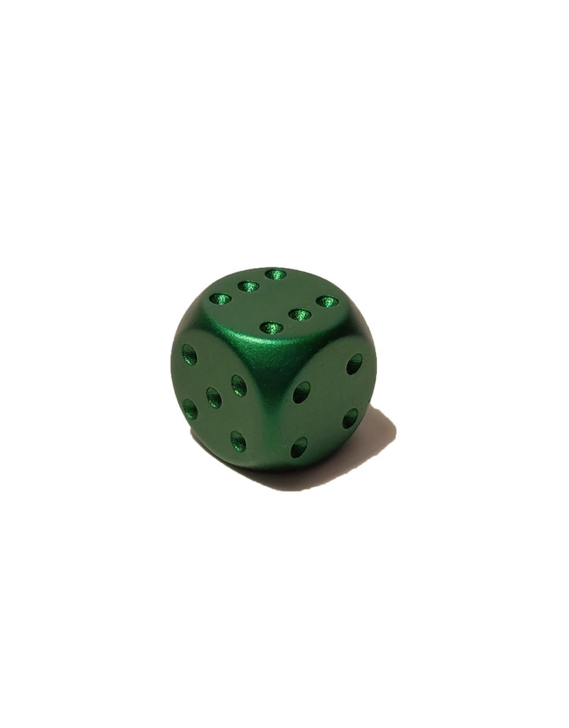 Pipped Aluminum D6 - Green