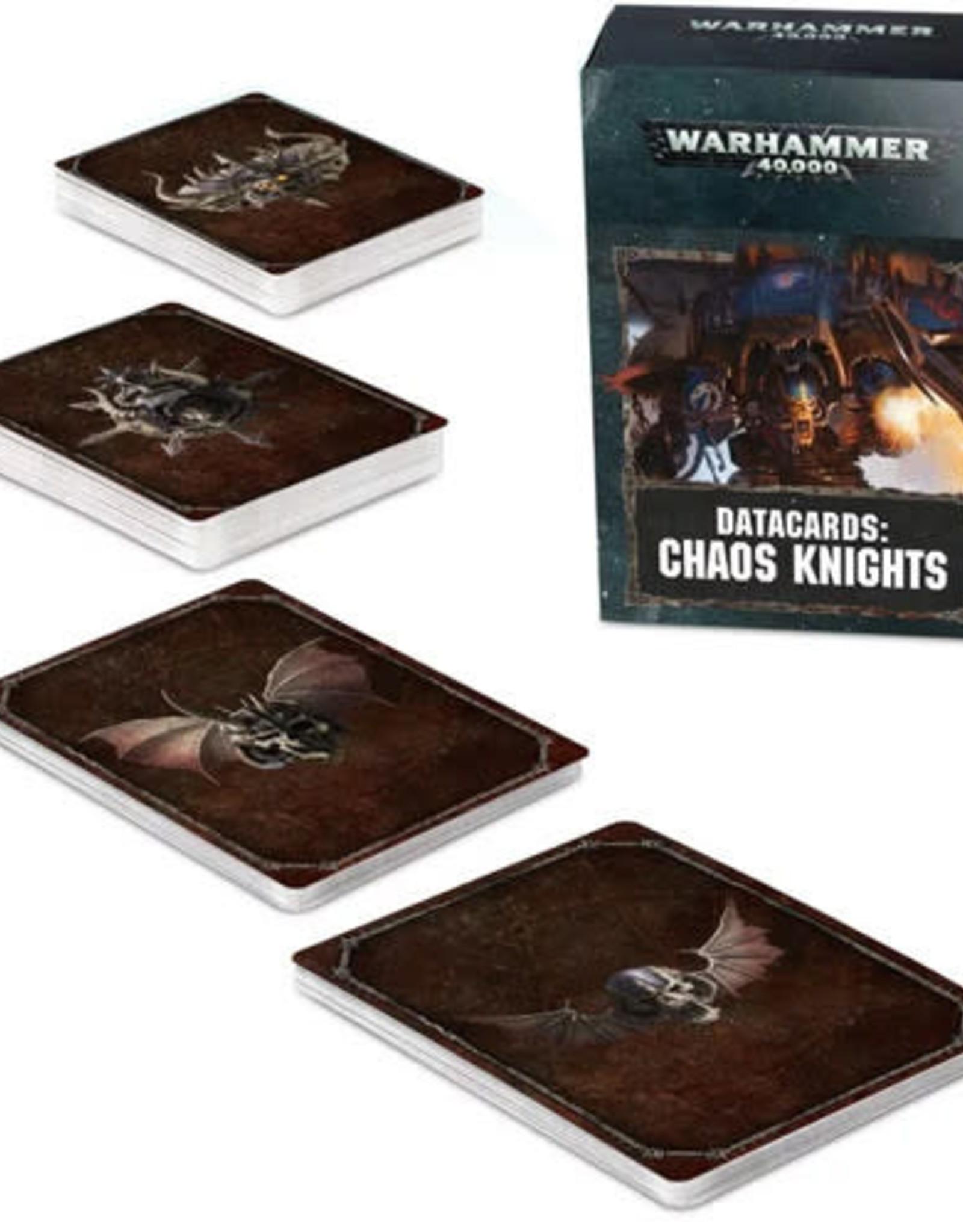 Warhammer 40K Datacards: Chaos Knights