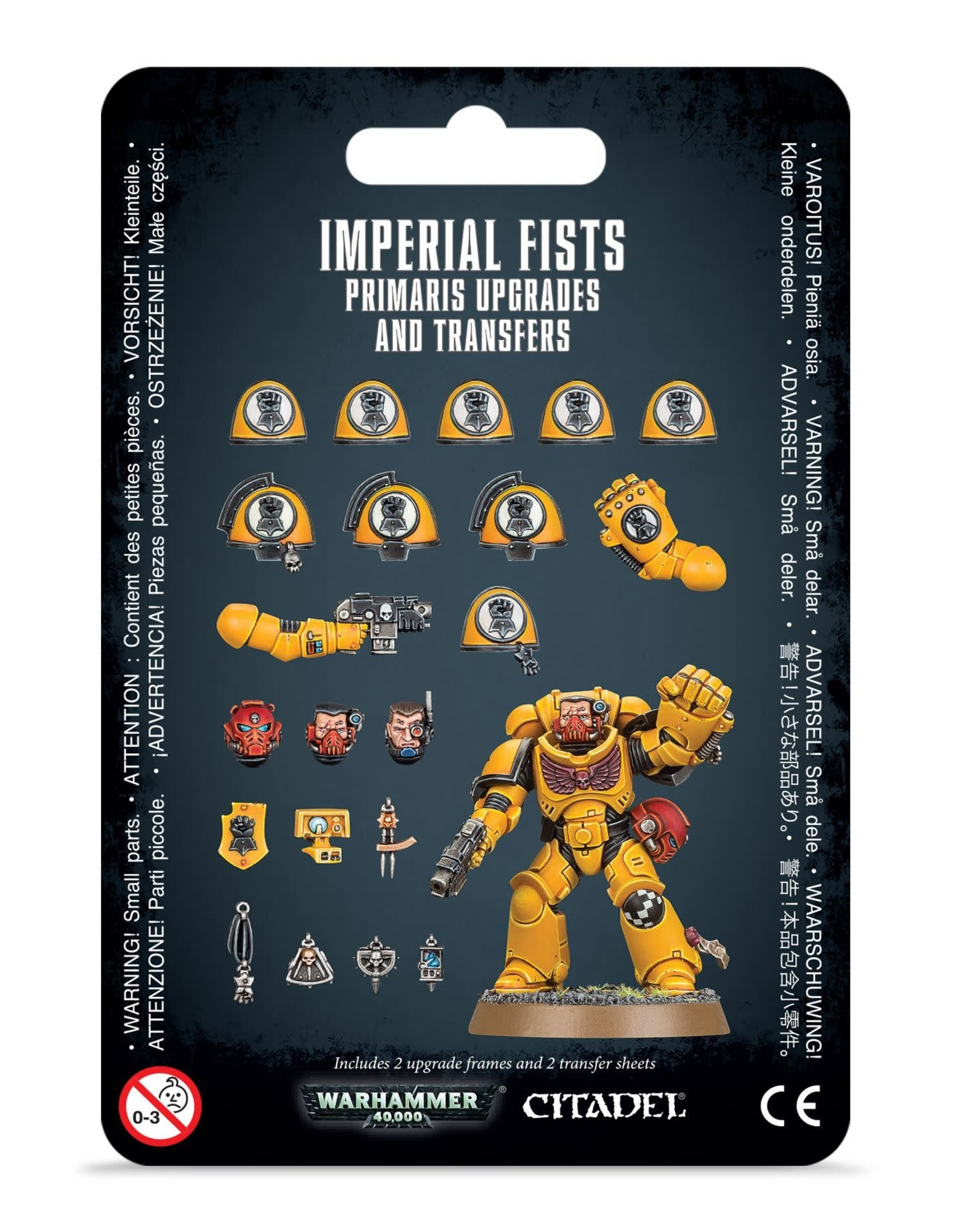 Warhammer 40K Imperial Fists Primaris Upgrades and Transfers