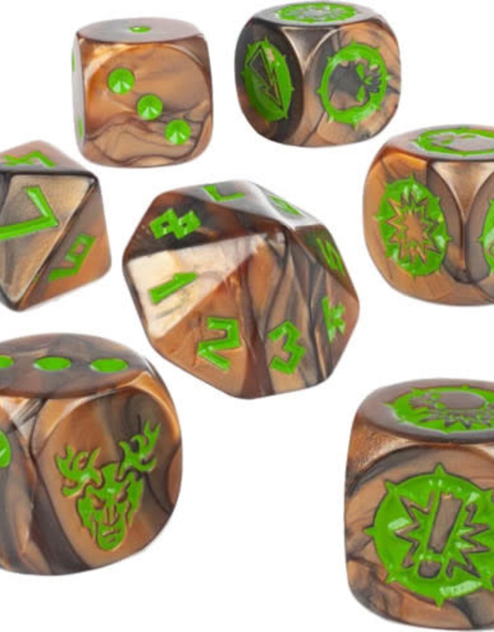 Blood Bowl Blood Bowl: Wood Elf Team Dice Set