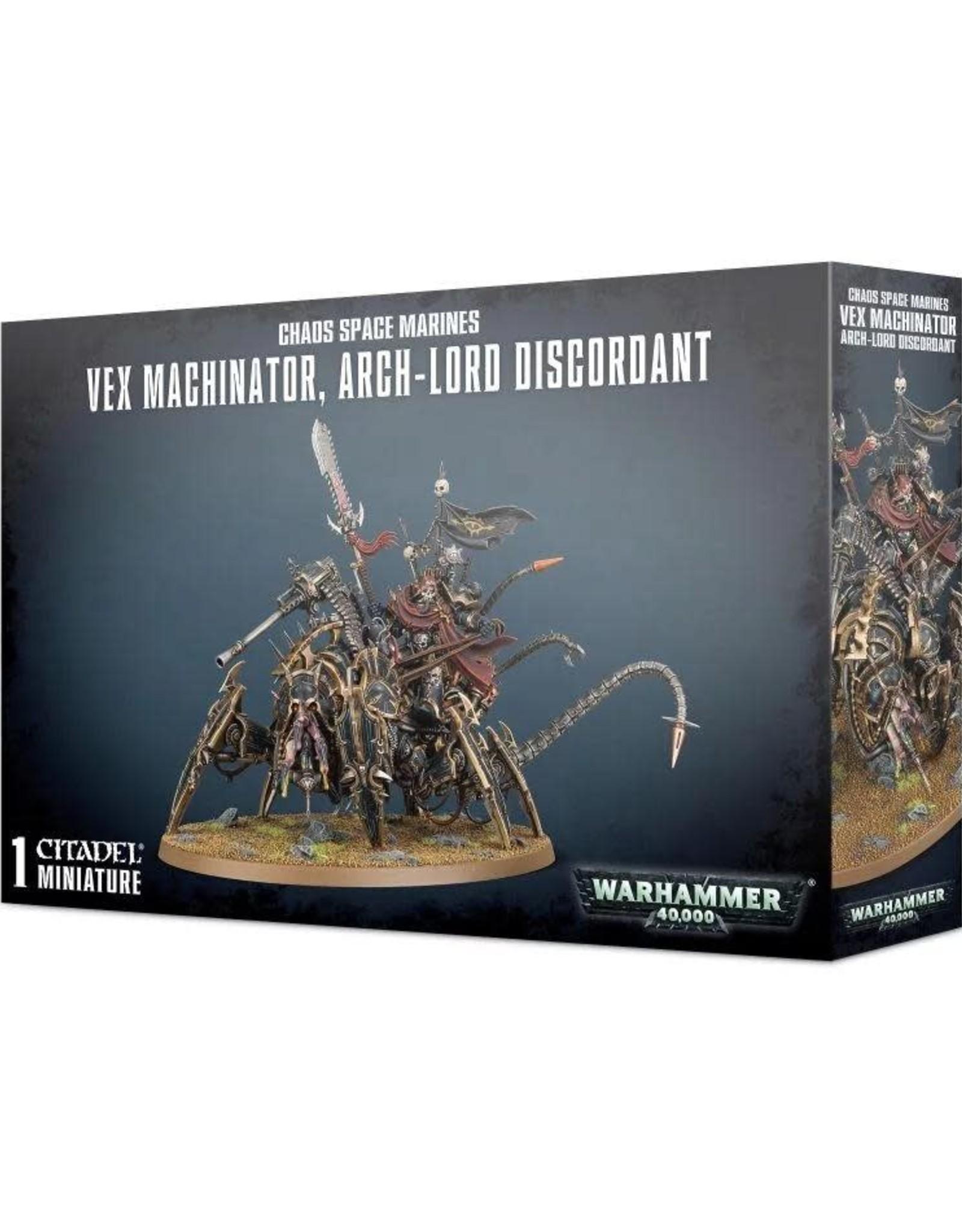 Warhammer 40K Chaos Space Marines Vex Machinator, Arch-Lord Discordant