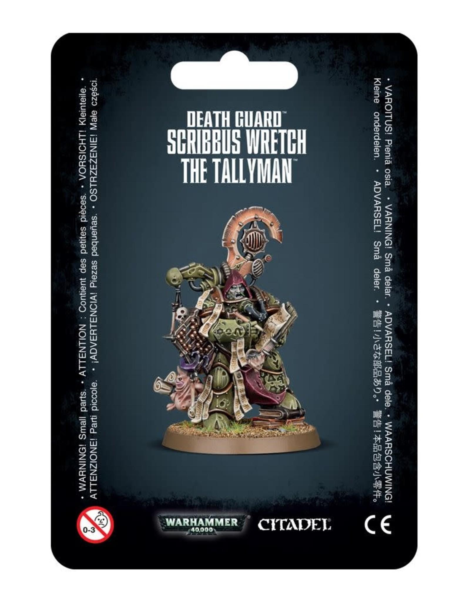 Warhammer 40K Death Guard Scribbus Wretch the Tallyman