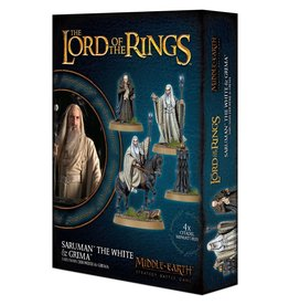 Lord of The Rings Saruman the White & Grima