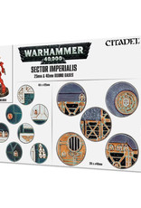 Warhammer 40K Sector Imperialis: 25 & 40MM Round Rases
