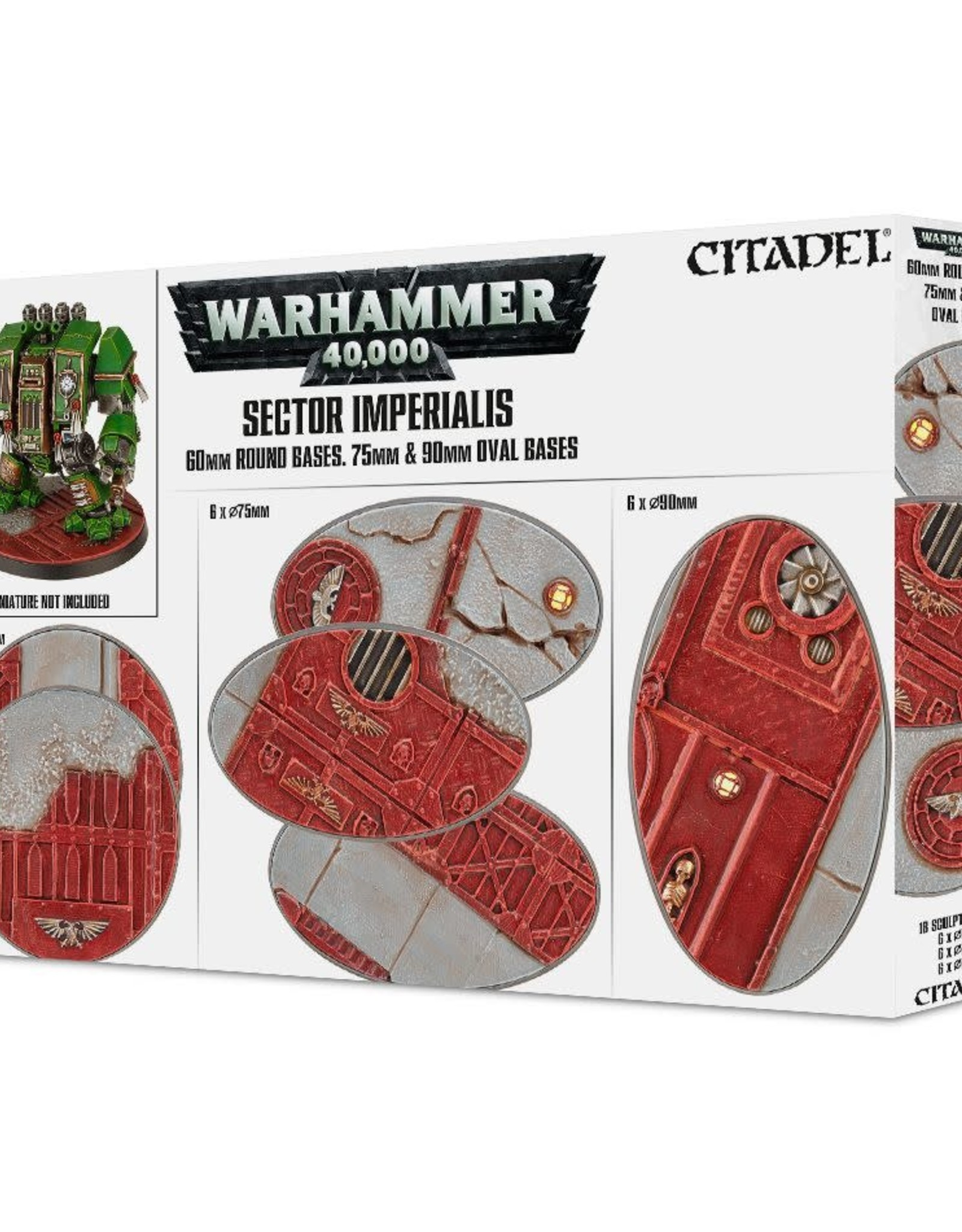 Warhammer 40K Sector Imperialis: 60MM RD and 75/90MM Oval Bases