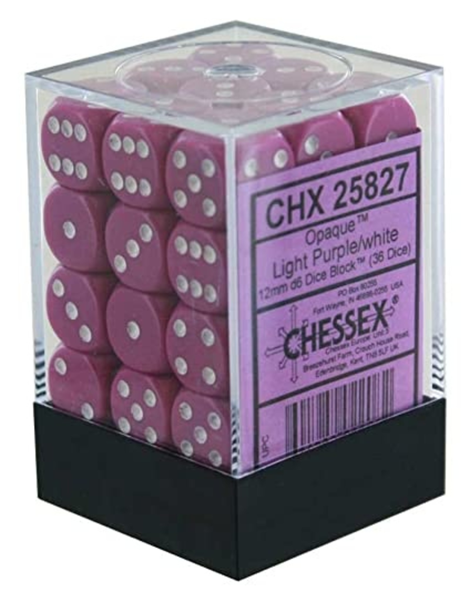 Chessex CHX 25827 Light Purple w/White (36)