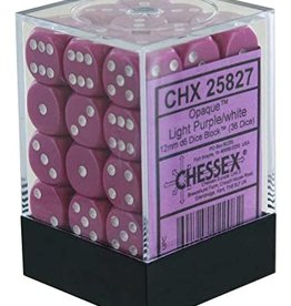 Chessex CHX 25827 Light Purple w/White (36)