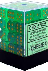 CHX 27825 Borealis 12mm D6 Light Green w/ Gold