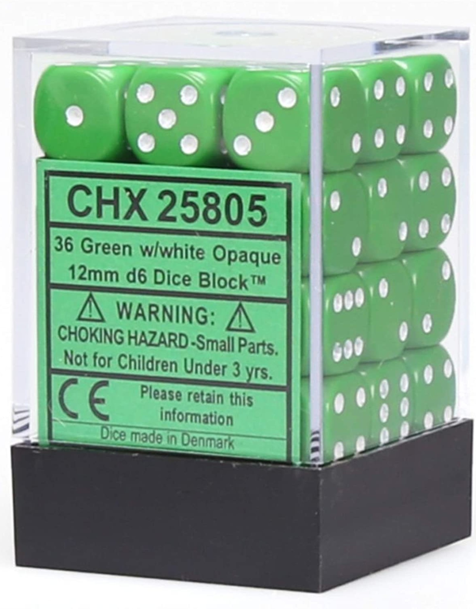 CHX 25805 Opaque: 36D6 Green/White