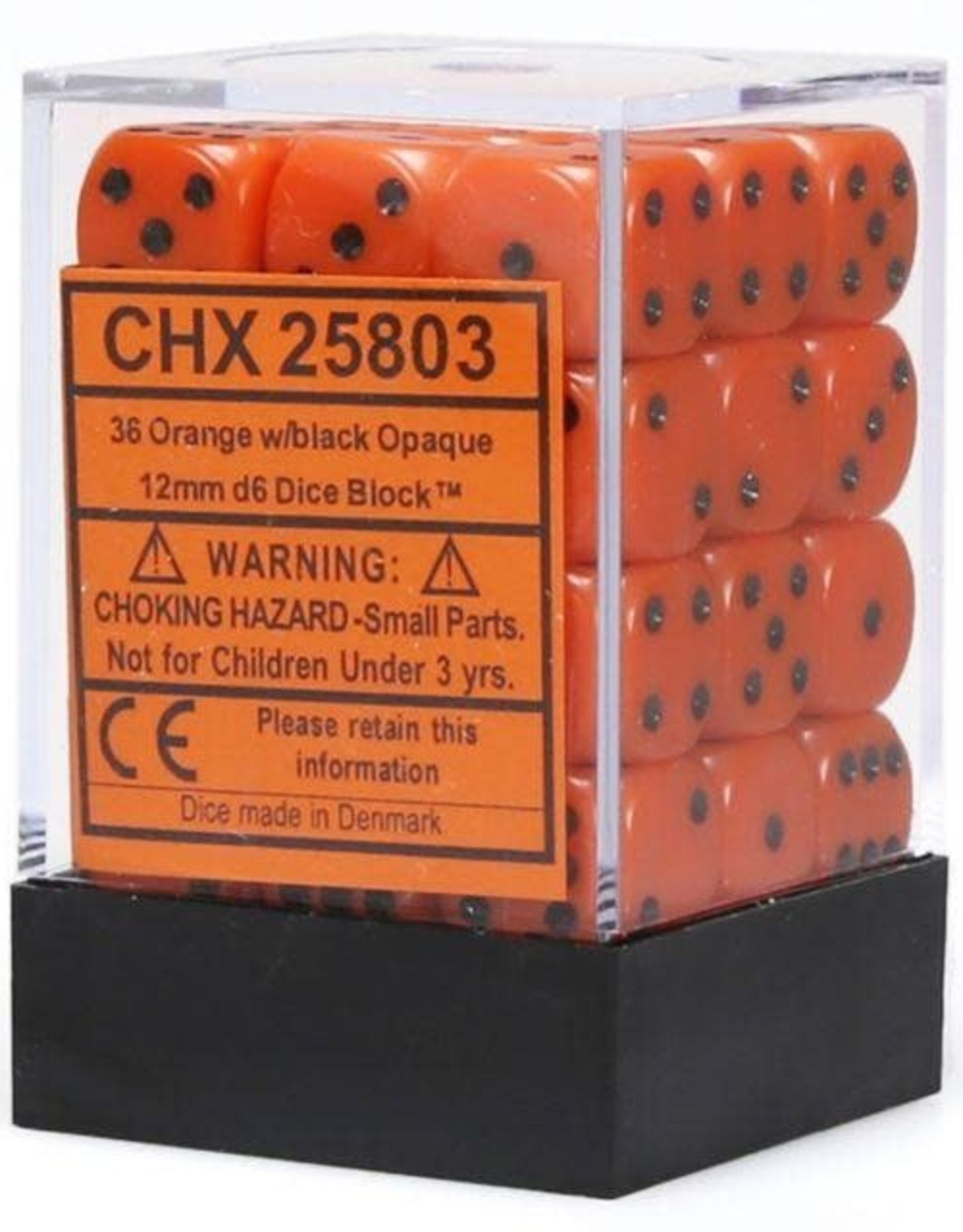 CHX 25803 OPAQUE ORANGE W/BLACK