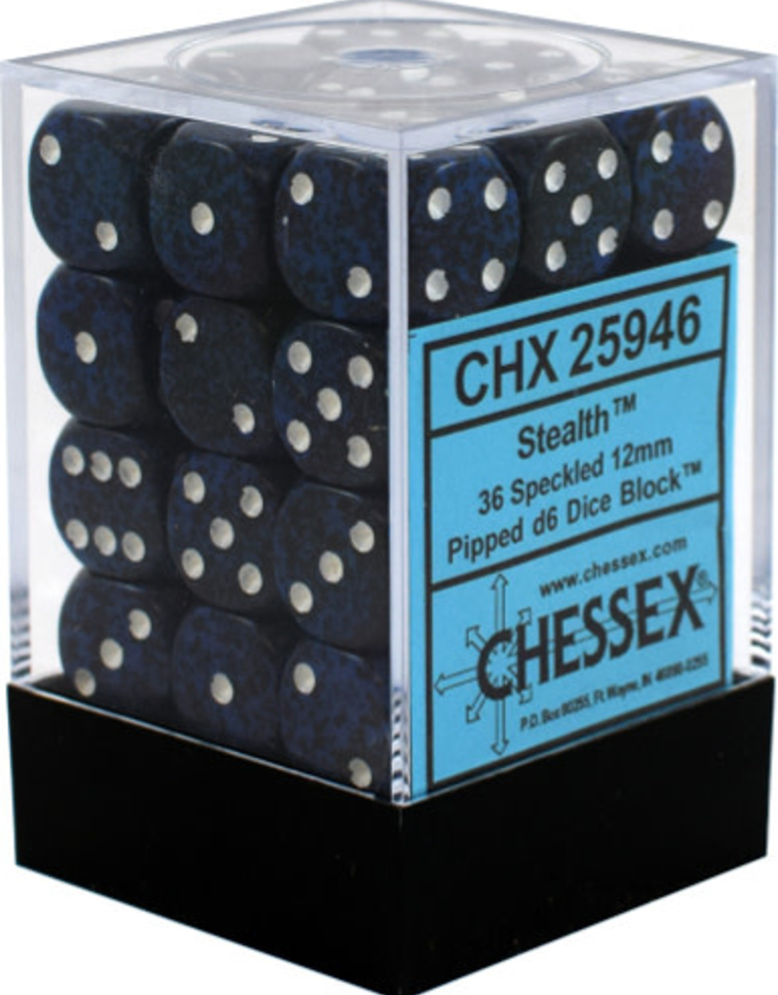CHX 25946 Speckled 12mm D6 Stealth