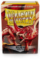 Dragon Shield: 100 Matte Ruby