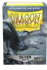 Dragon Shield: 100 Matte Silver Non-Glare