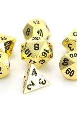 Die Hard Dice Die Hard Metal RPG Set - Shiny Gold w/Black