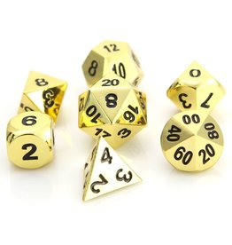 Die Hard Dice Die Hard Metal RPG Set - Shiny Gold w/Black