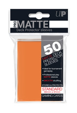 Pro Matte Deck Protector Sleeves 50ct Orange
