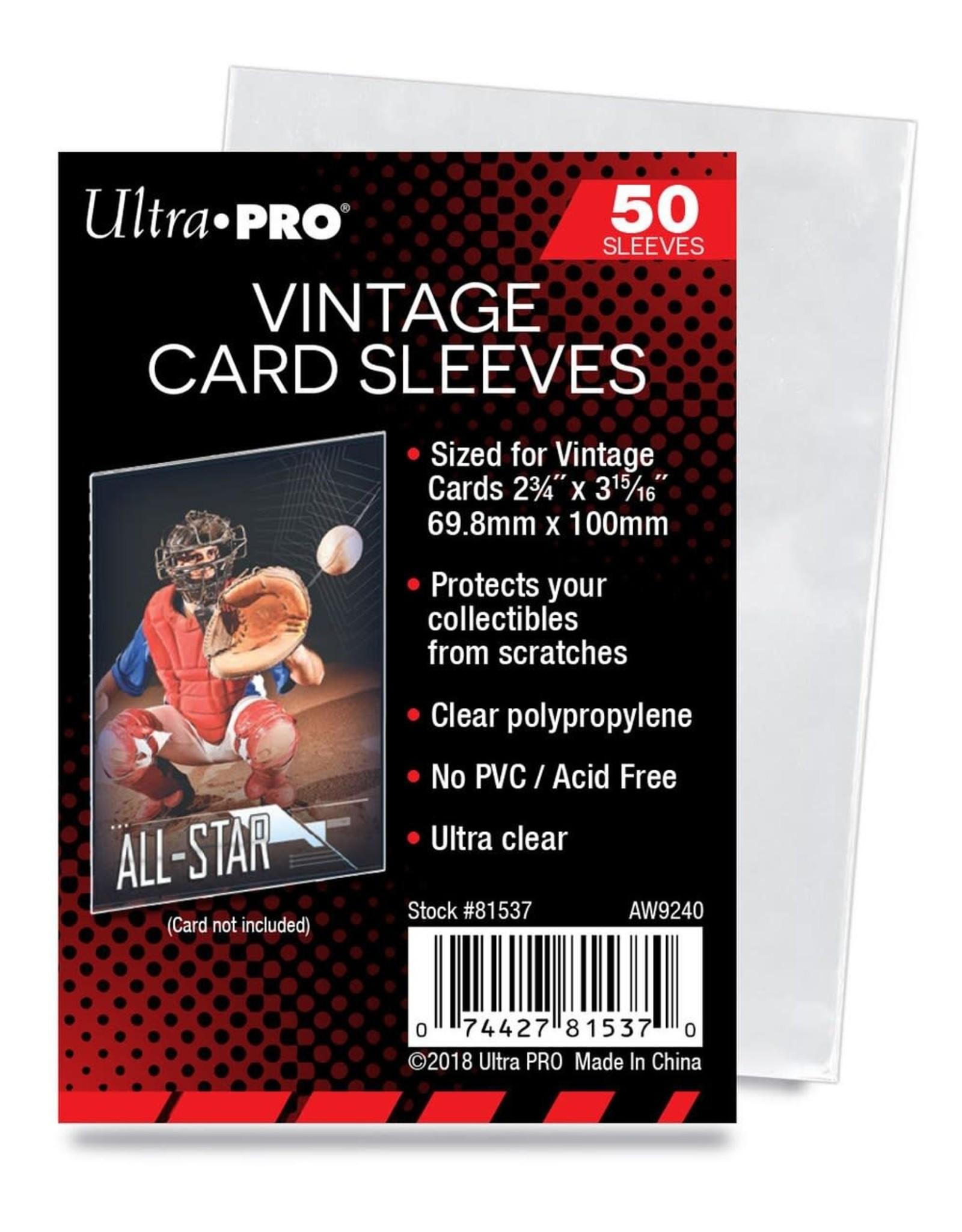 Ultra Pro Vintage Card Sleeves 100ct