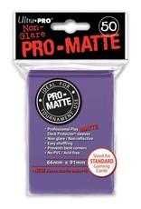 Pro Matte Deck Protector Sleeves 50ct Purple