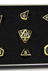 Die Hard Dice Die Hard Metal RPG Gothica Set - Shiny Gold w/Black