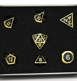 Die Hard Dice Die Hard Metal RPG Gothica Set - Shiny Gold w/Black