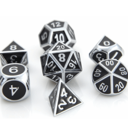 Die Hard Dice Die Hard Metal RPG Gothica Set - Shiny Silver w/Black