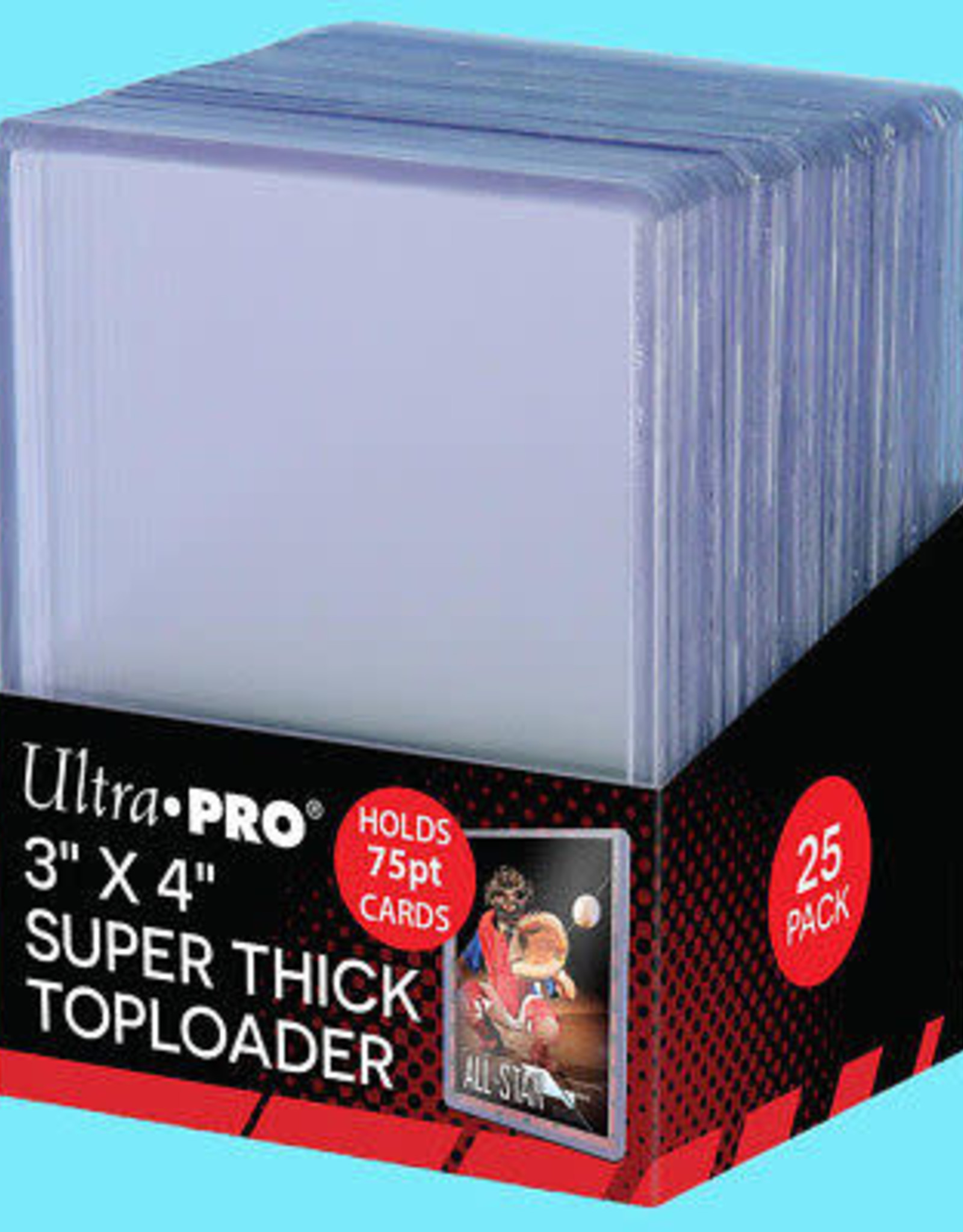Toploader: 3in x 4in 75pt Thick (25)