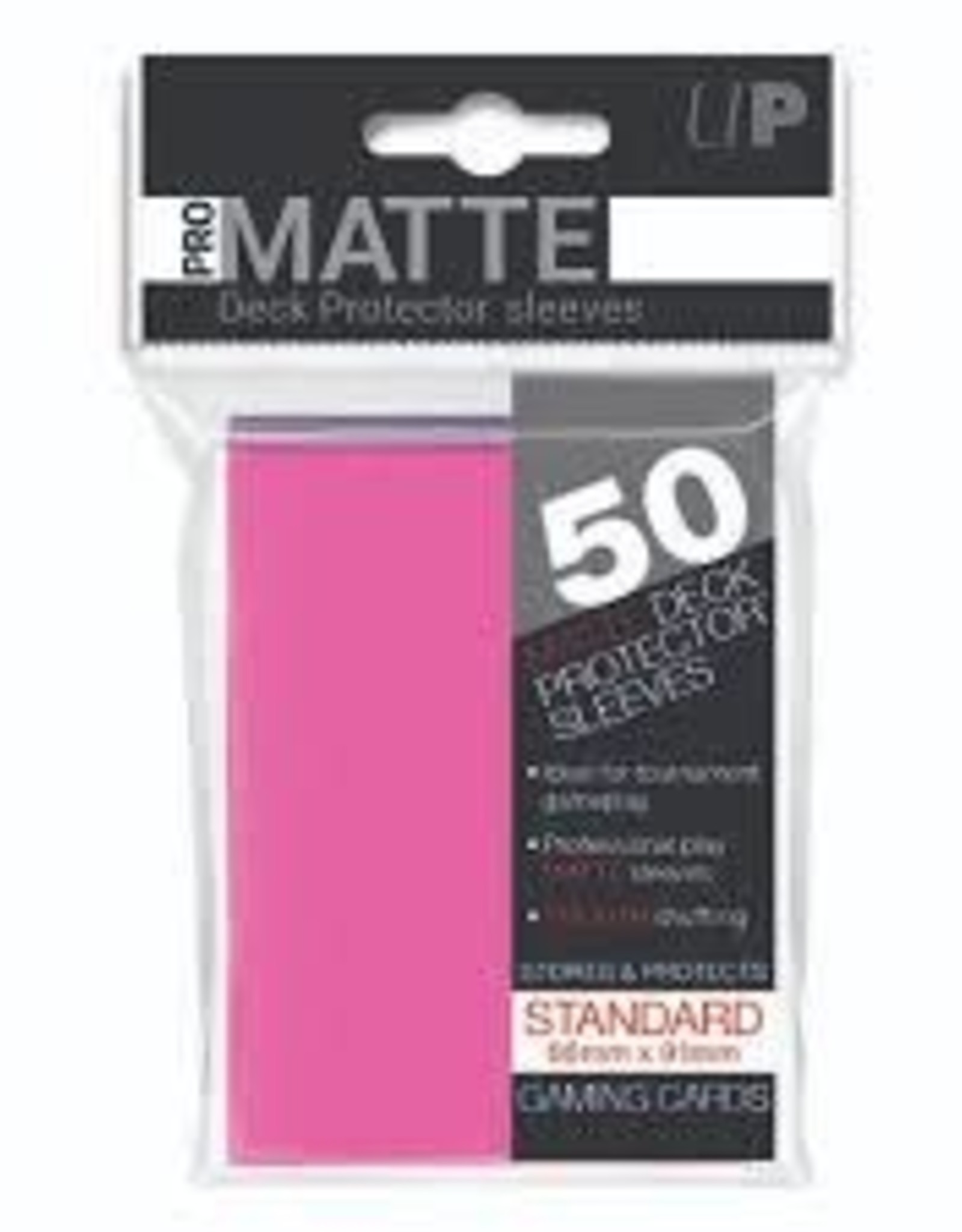 Pro Matte Deck Protector Sleeves 50ct Bright Pink