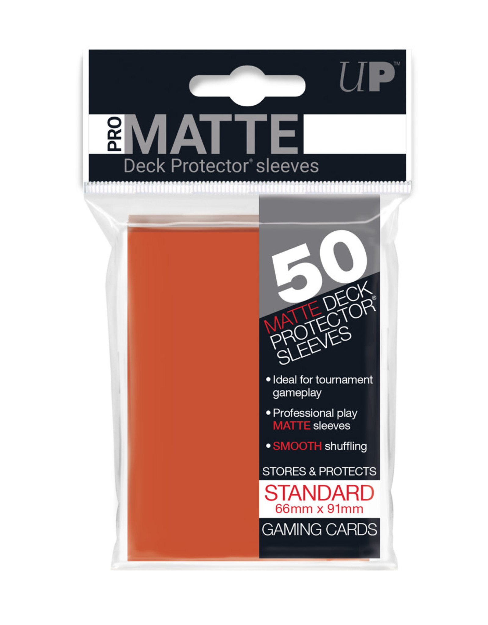 Pro Matte Deck Protector Sleeves 50ct Peach
