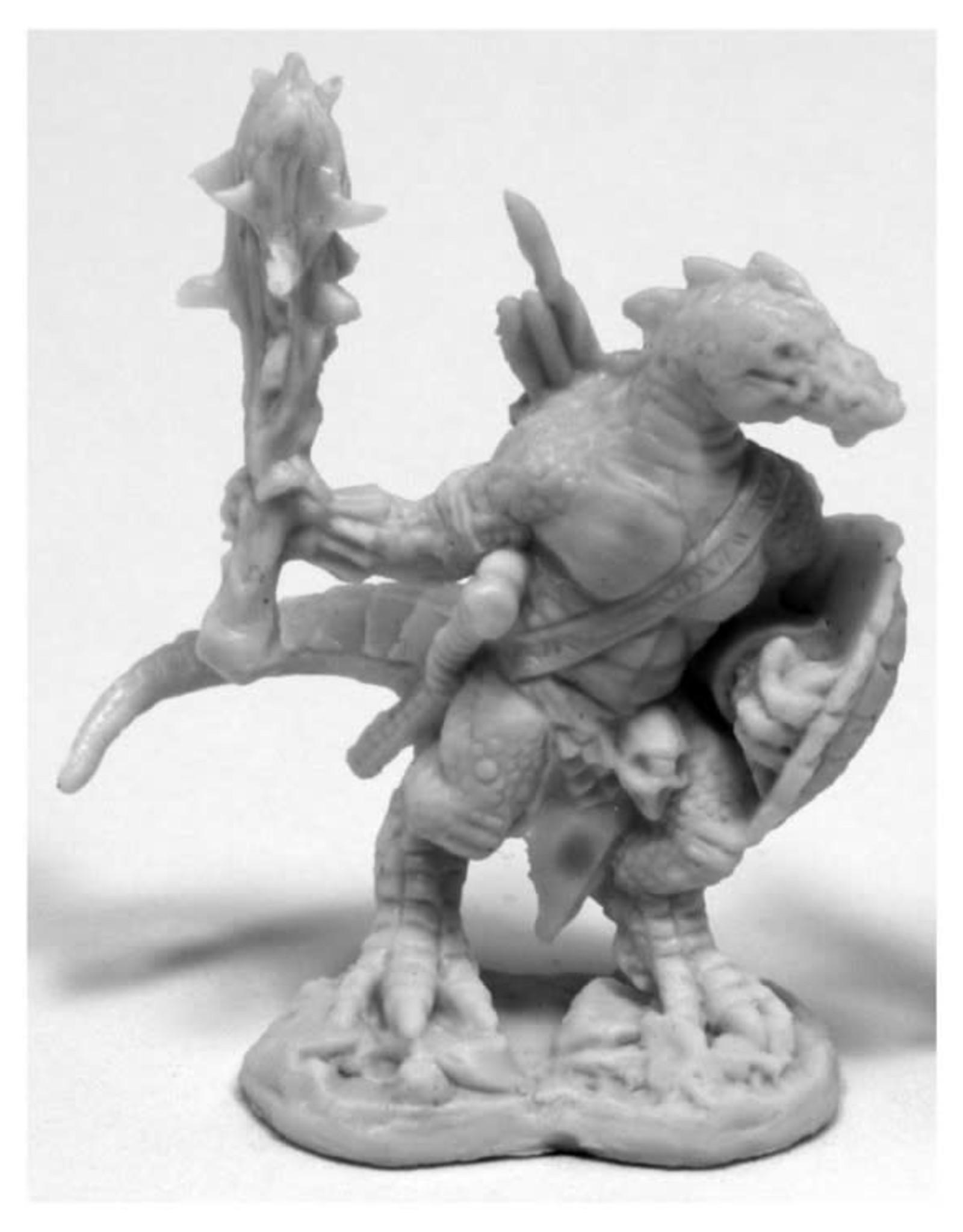 Bones Lizardman w/ Club and Shield