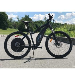 EVO E-Bikes, Terraway 7, Velo electrique 27.5'', Black/Blue, L