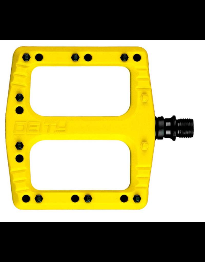 Pédales Deity, Deftrap, Platform, Yellow
