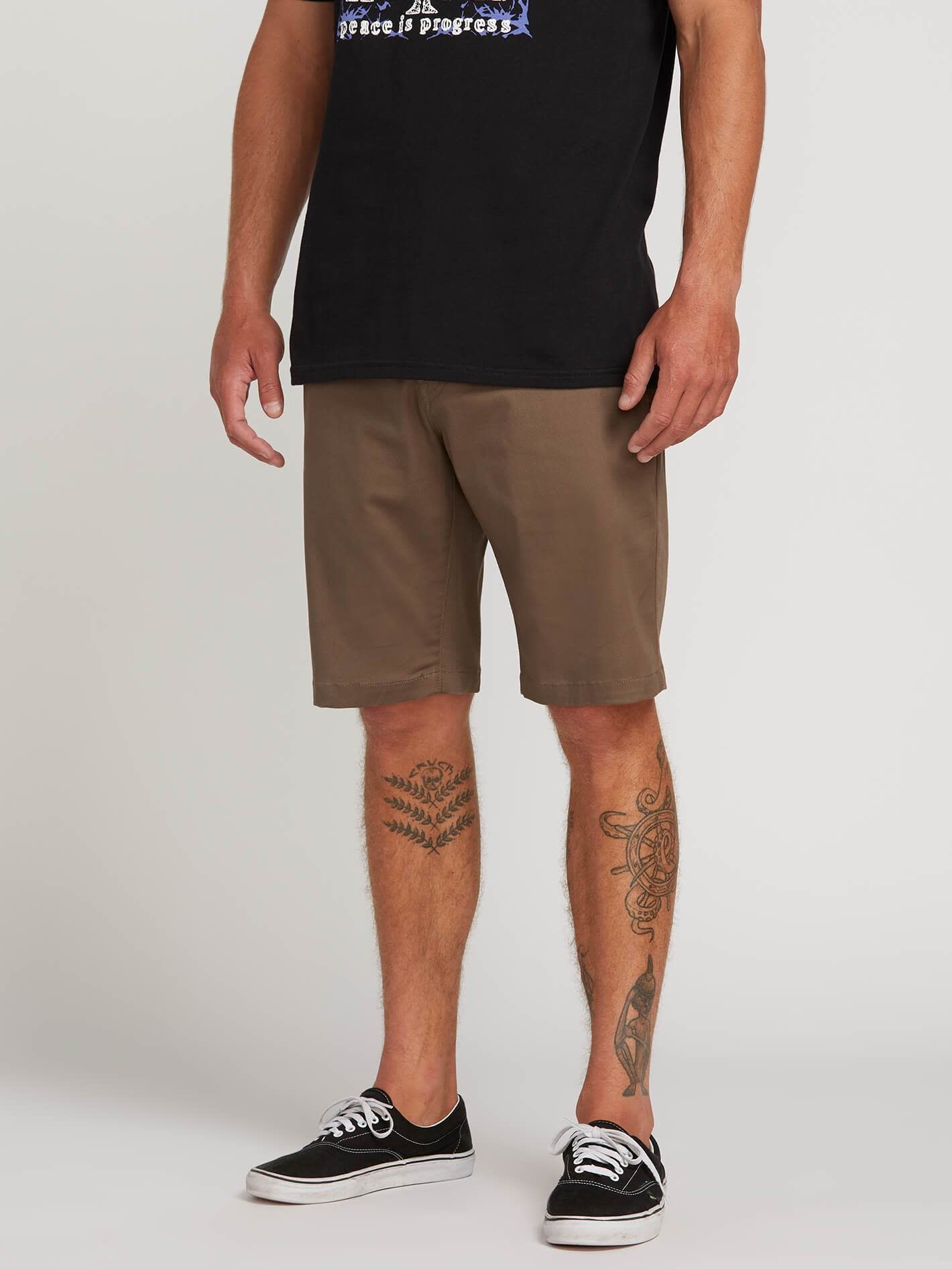 FRCKN MODERN STRETCH SHORT BROWN