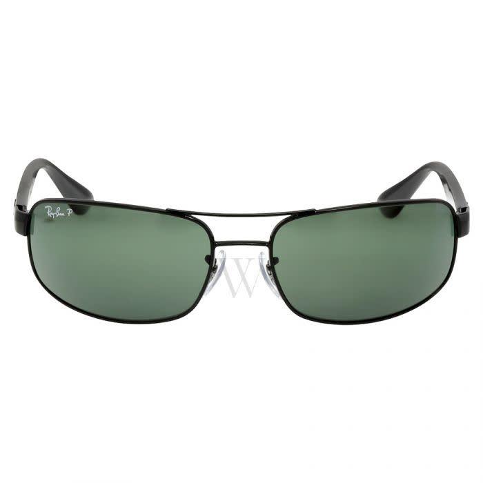 RB3445 Black w/Dark Green Polarized