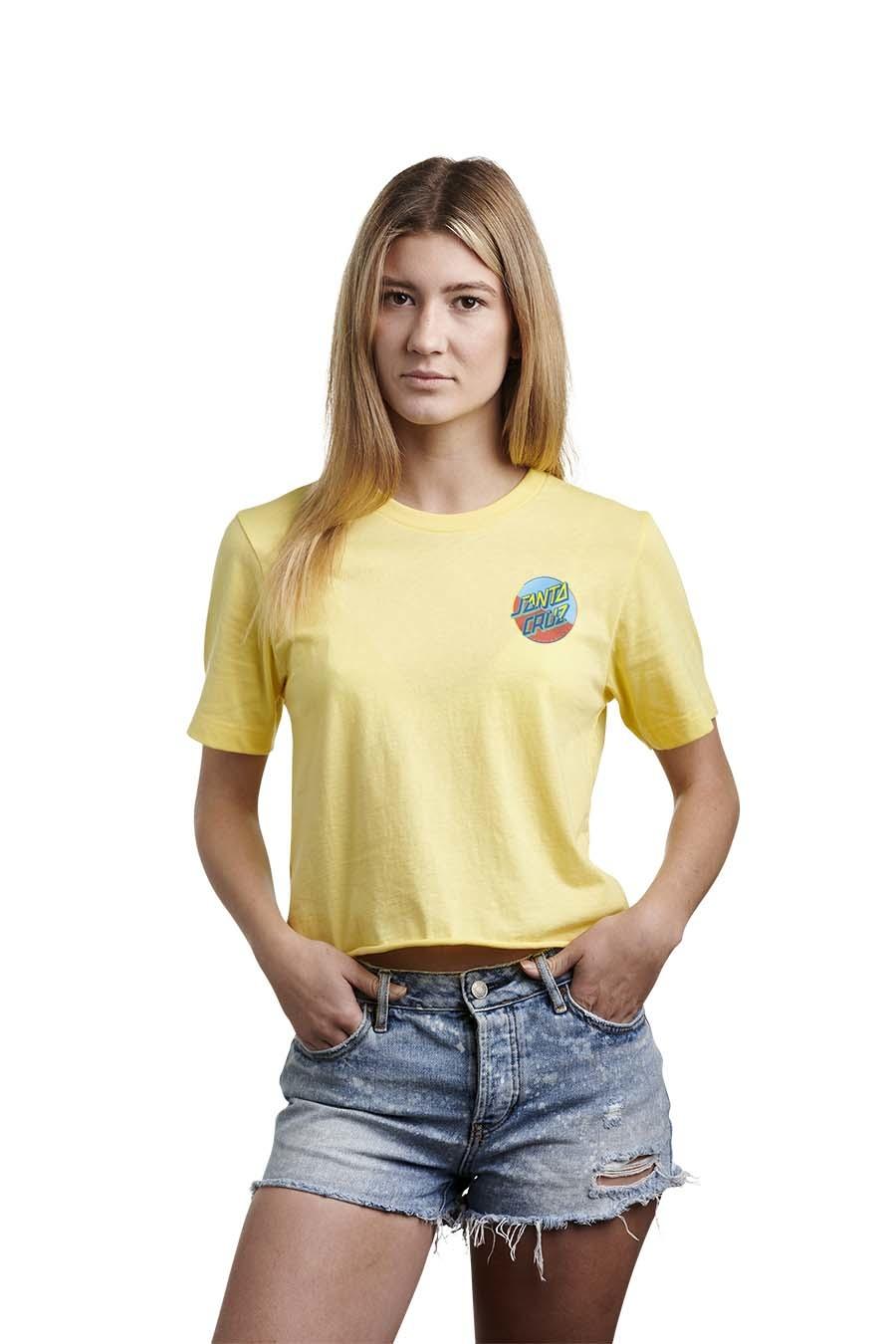 Dot Blocker S/S Crop T-shirt
