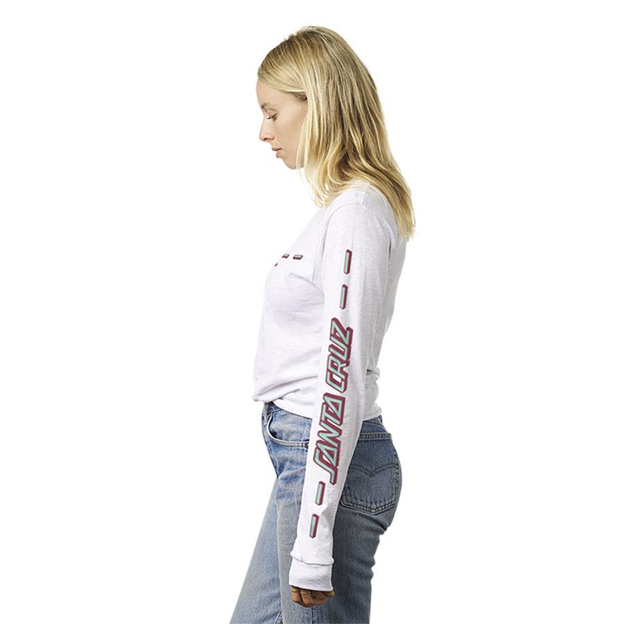 Street Strip L/S Crop Boyfriend T-shirt