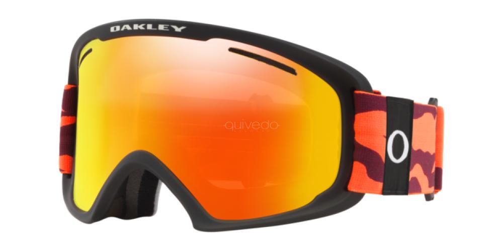 O Frame 2.0 Pro XL Neon Orange Camo w/Fire Iridium