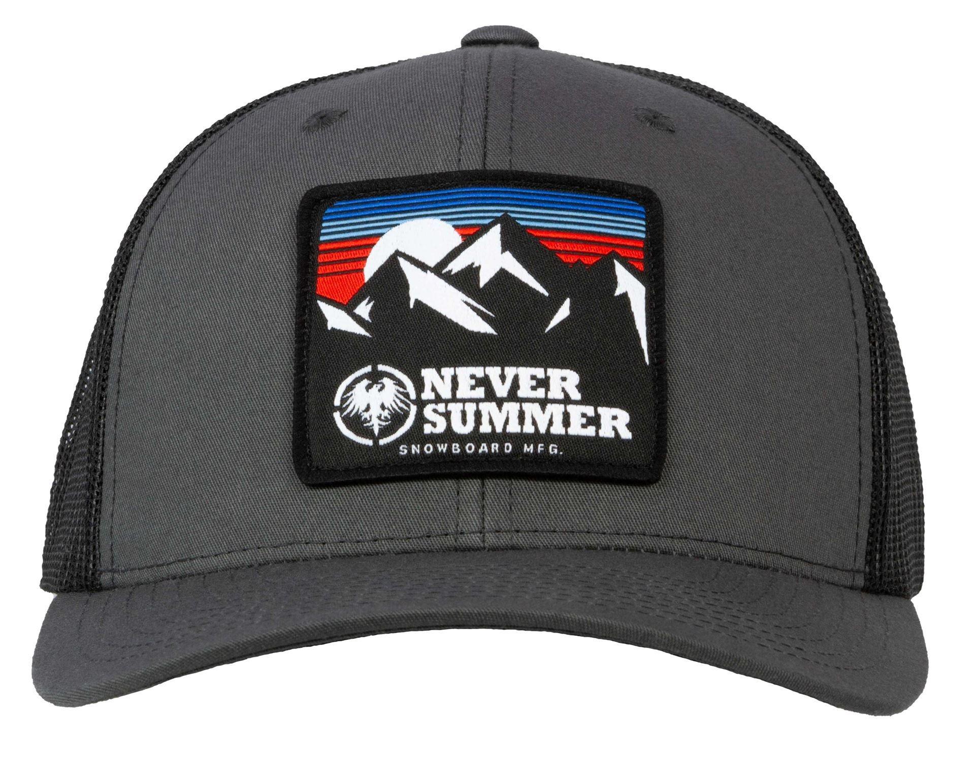 Retro Mountain Mesh Snapback Charcoal/Black
