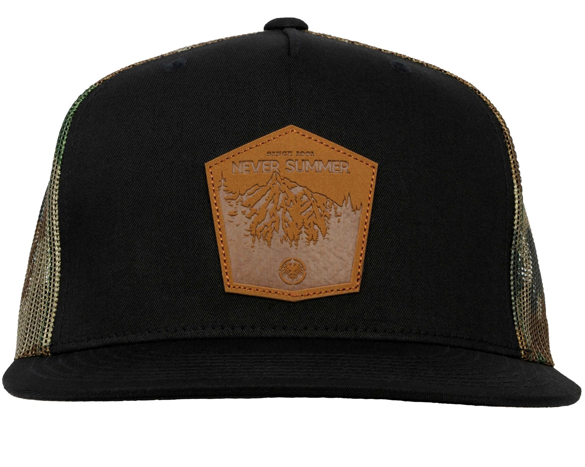 Mountain Leather Patch Mesh Snapback Camo
