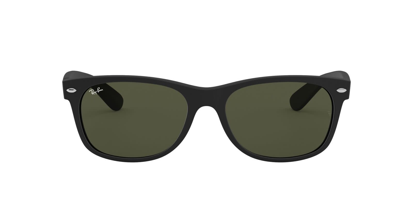 New Wayfarer Rubber Black W/ G-15 Green