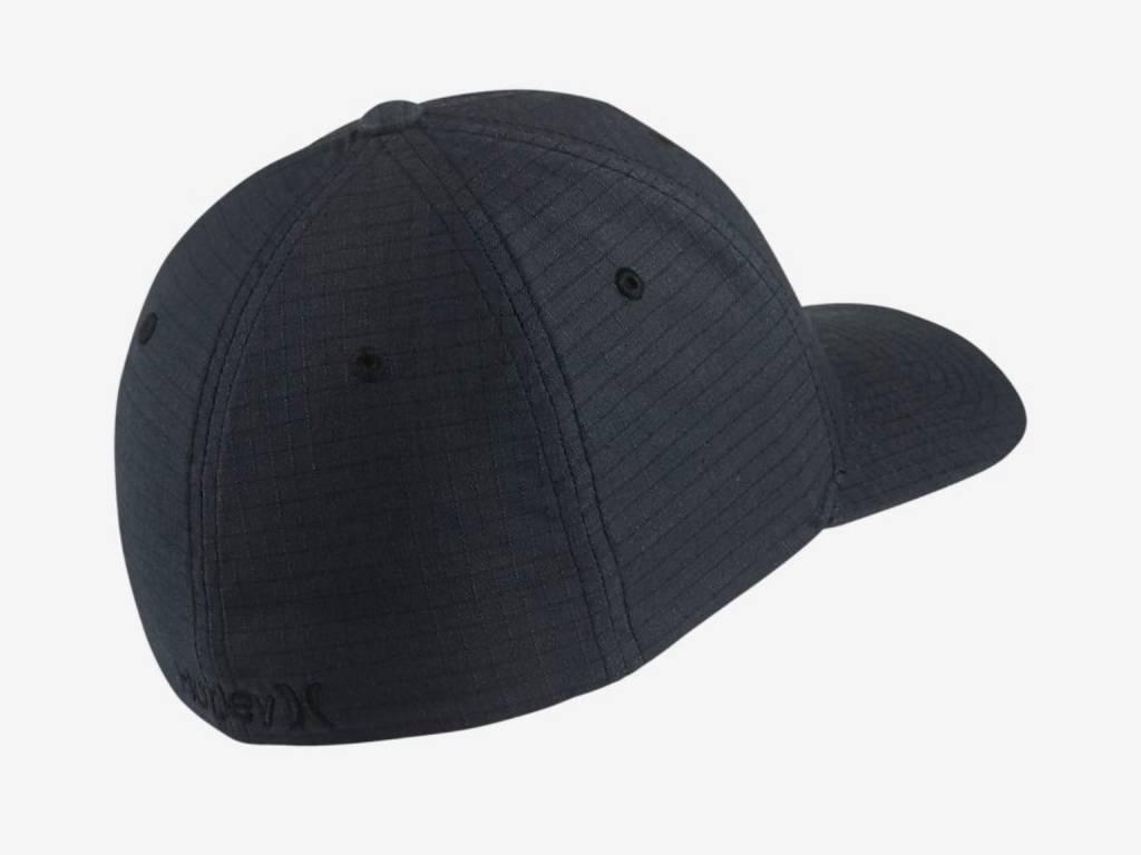 M HRLY BLACK TEXTURES HAT BLACK (BLACK RIPSTOP) L-XL