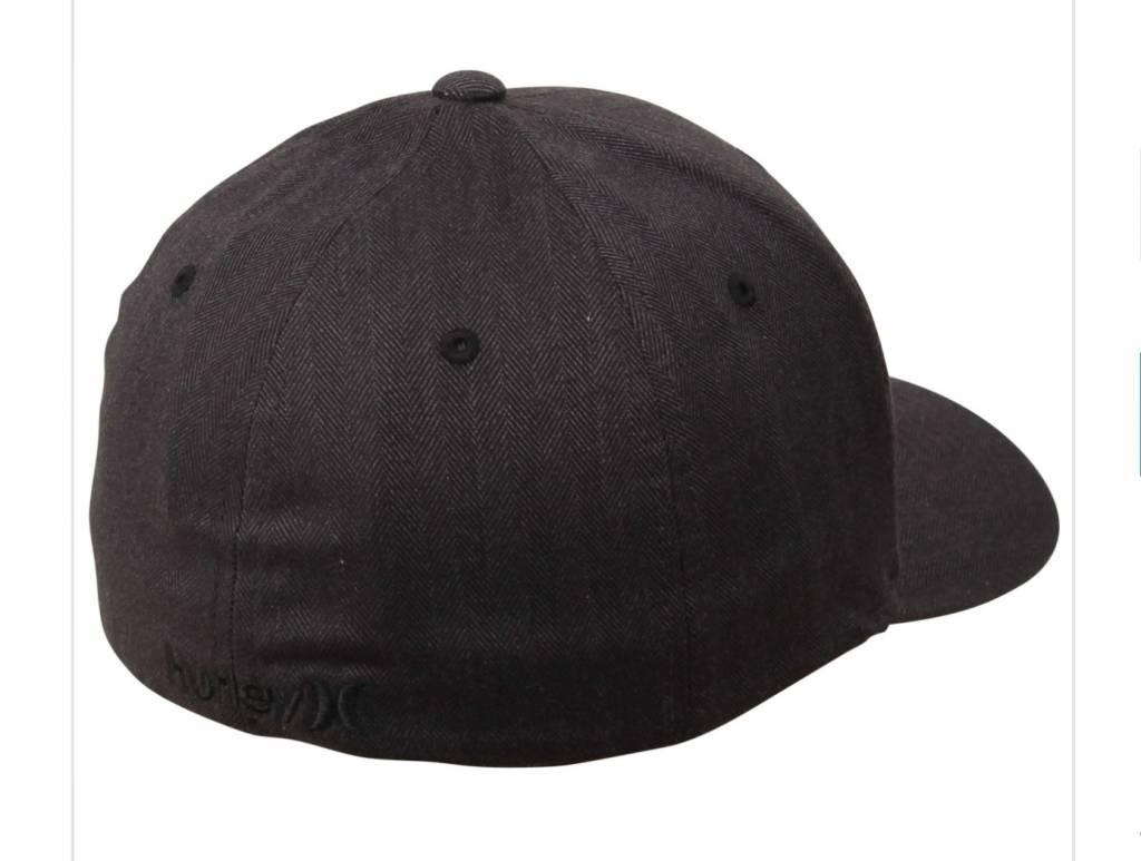 M HRLY BLACK TEXTURES HAT BLACK (BLACK HERINGBONE) S-M