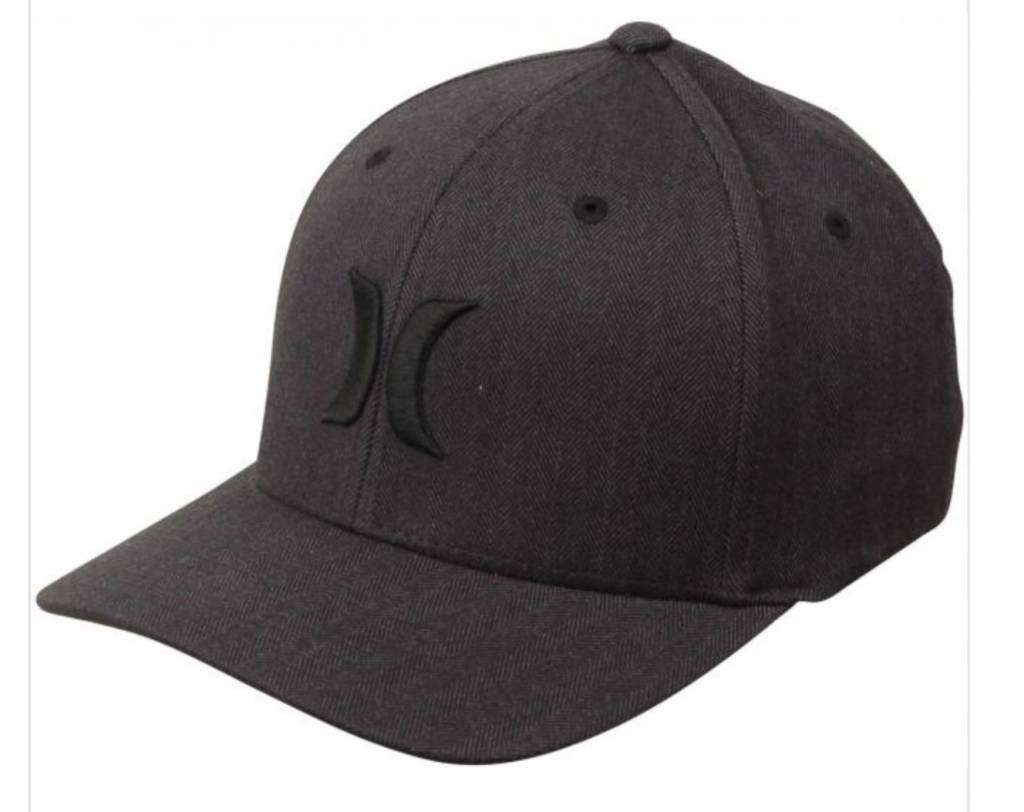M HRLY BLACK TEXTURES HAT BLACK (BLACK HERINGBONE) L-XL