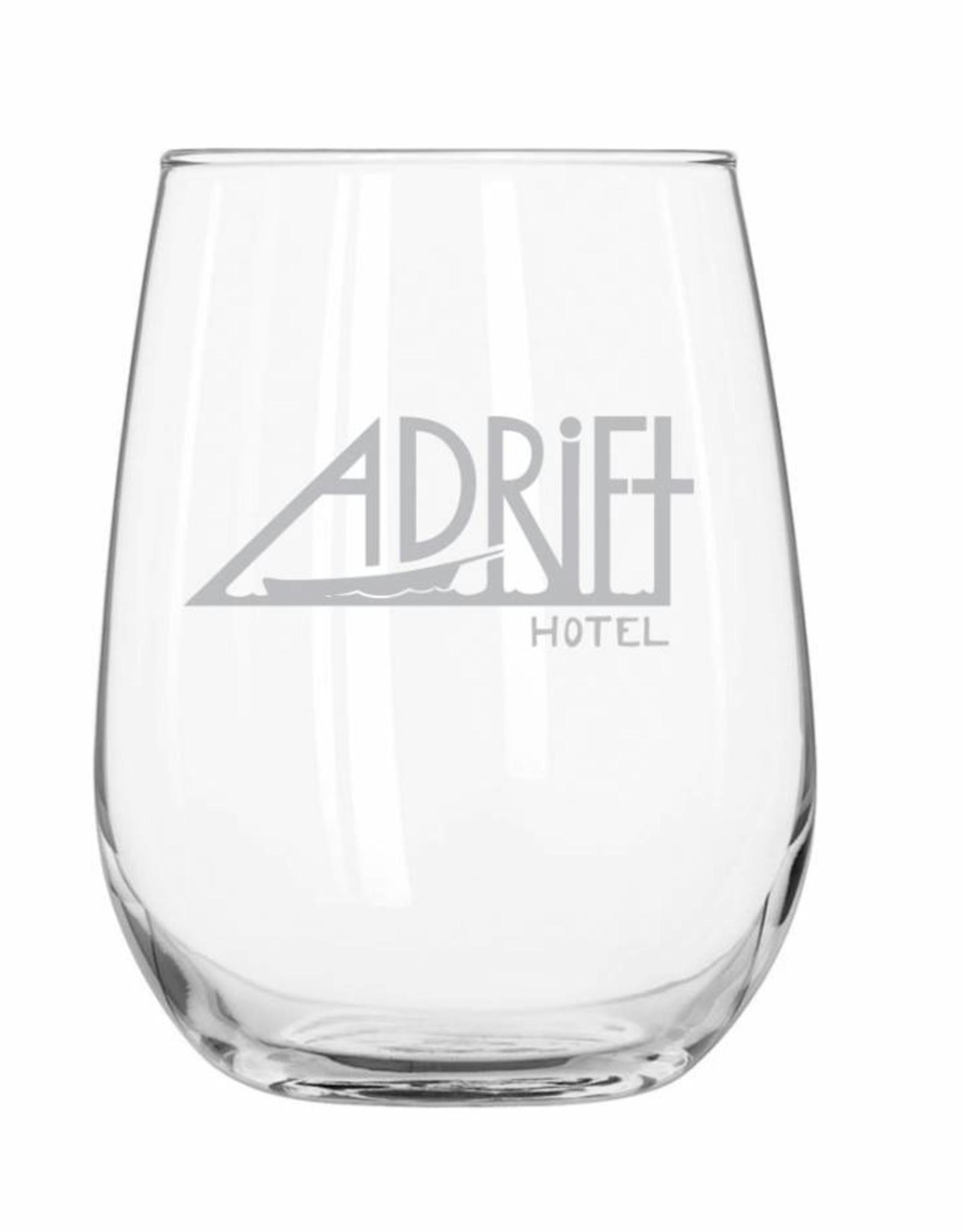 Adrift Hotel Wine Glass