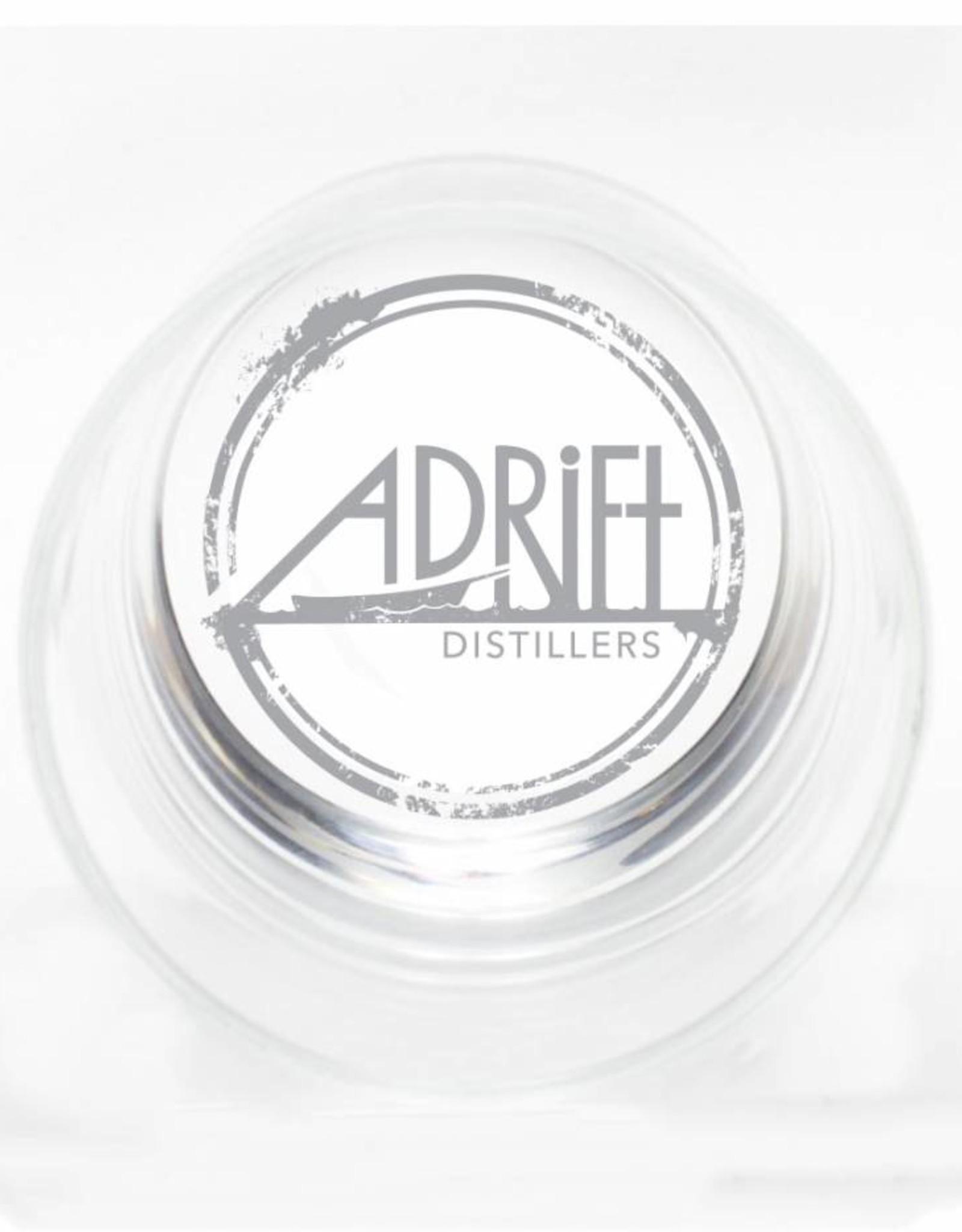 Adrift Distillers Etched Rocks Glass