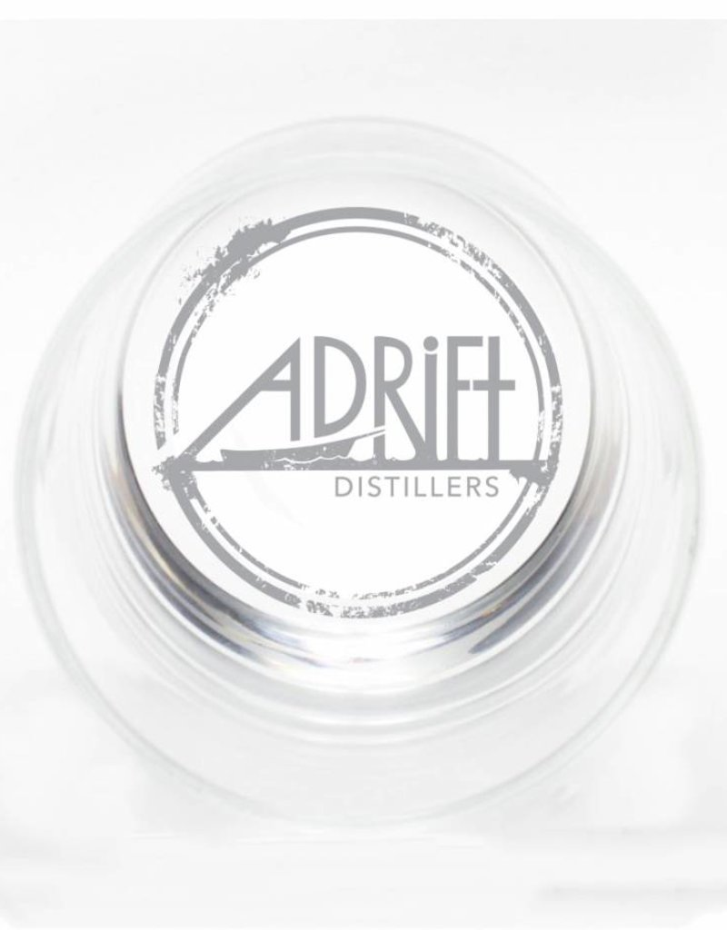 Adrift Distillers Etched Rocks Glass